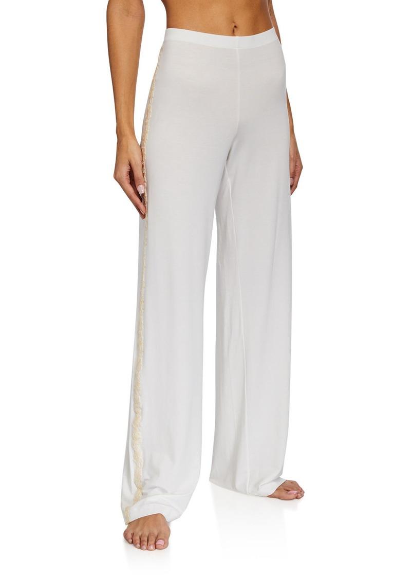 La Perla Brenda Lace-Trim Long Pants