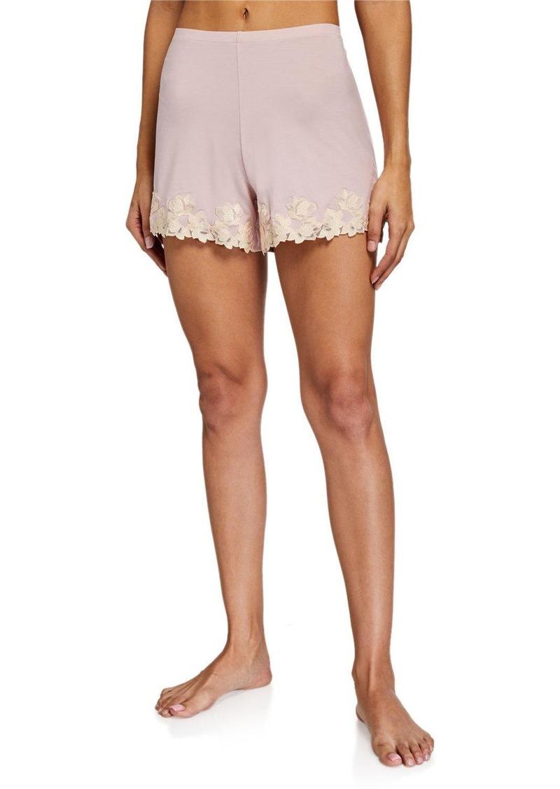 La Perla Brenda Lace-Trim Lounge Shorts