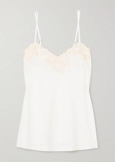 La Perla Brenda Lace-trimmed Satin-jersey Camisole