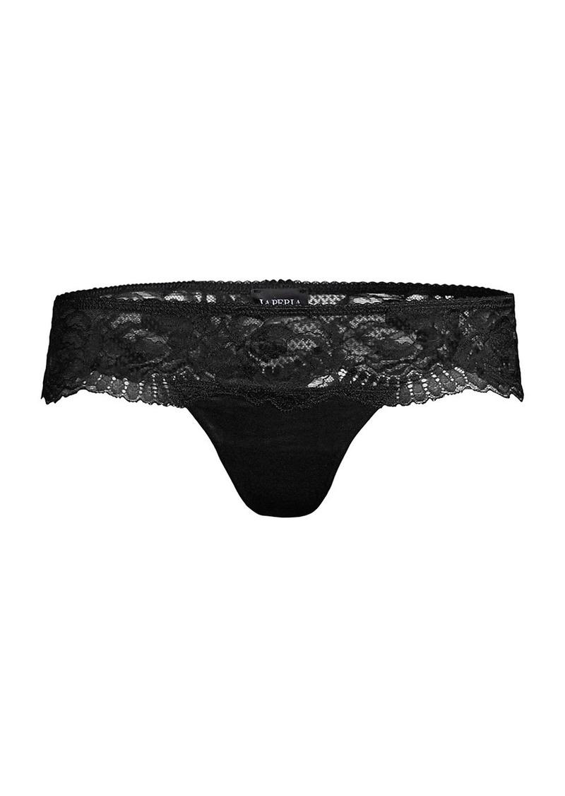 La Perla Brigitta Lace-Trim Thong