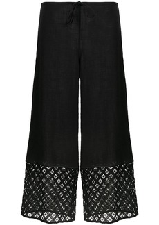 La Perla embroidered trim cropped trousers