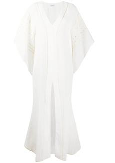La Perla embroidered tulle draped kaftan