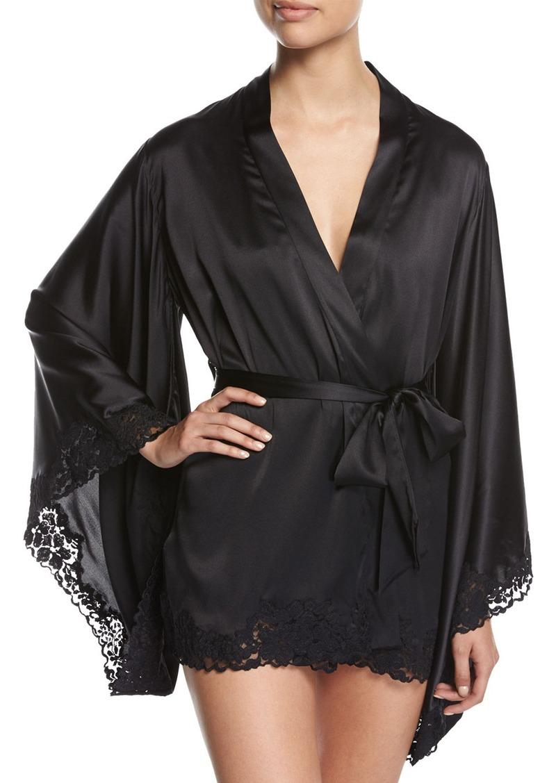 La Perla La Perla Azalea Lace-Trimmed Short Kimono Robe  1664ebb2b