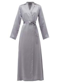 La Perla Belted long silk-satin robe