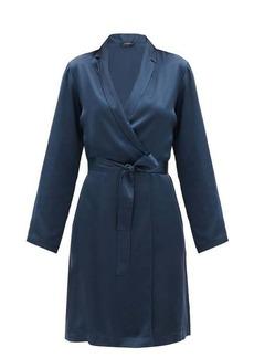 La Perla Belted short silk-charmeuse robe