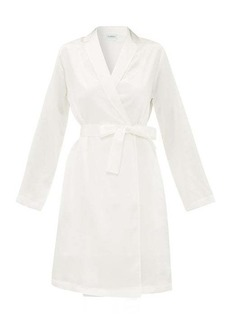 La Perla Belted short silk robe