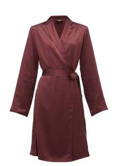 La Perla Belted short silk-satin robe