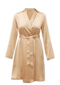 La Perla Belted silk-charmeuse robe