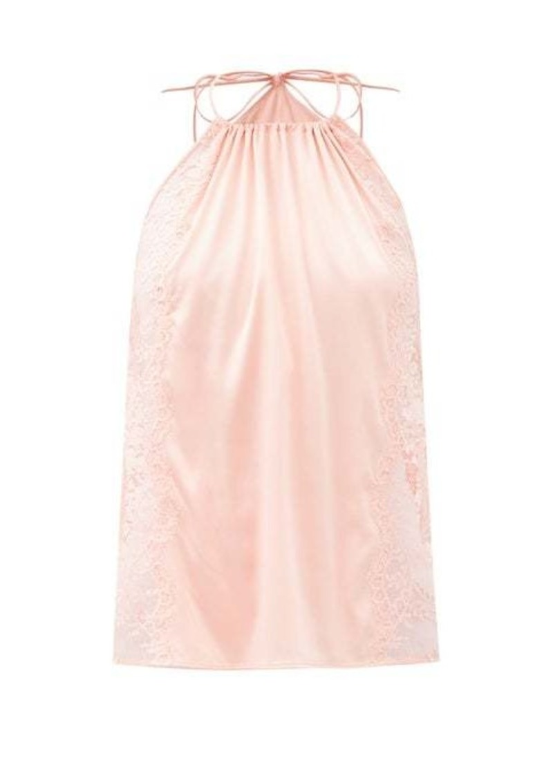 La Perla Exotique halterneck silk-blend camisole