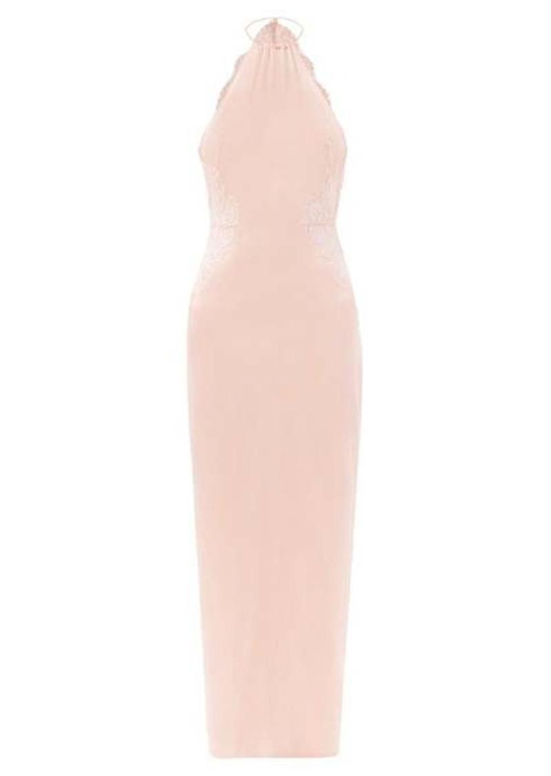 La Perla Exotique halterneck silk-blend nightdress
