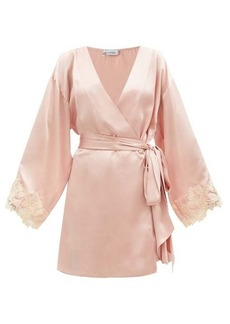 La Perla Frastaglio-trim silk-satin robe