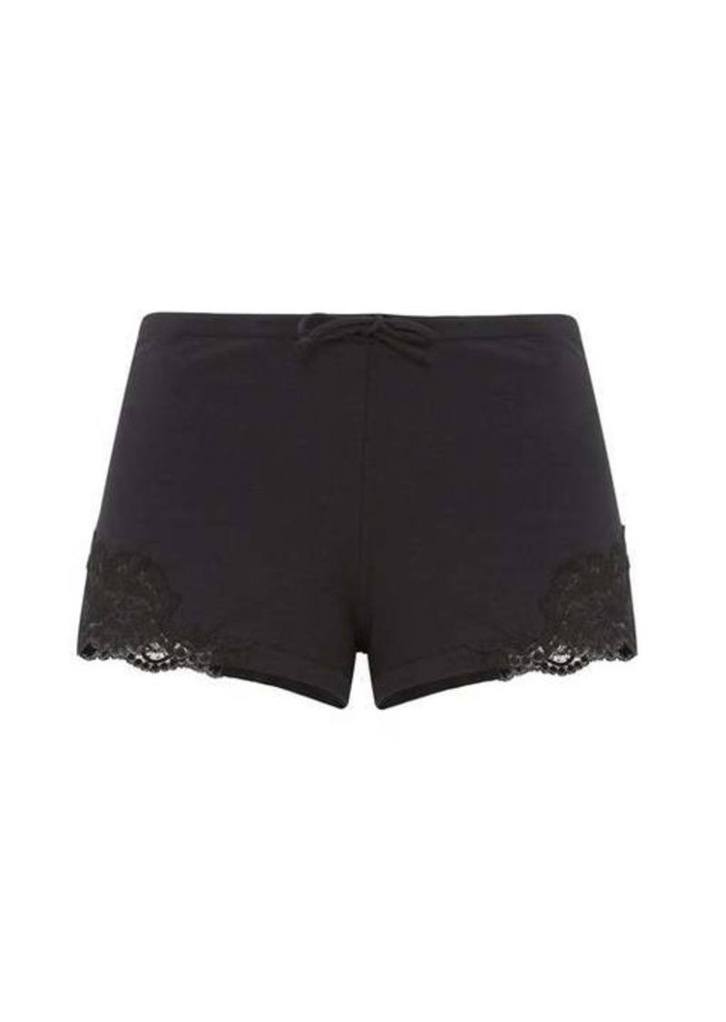 La Perla Lace-trimmed cotton-blend jersey pyjama shorts