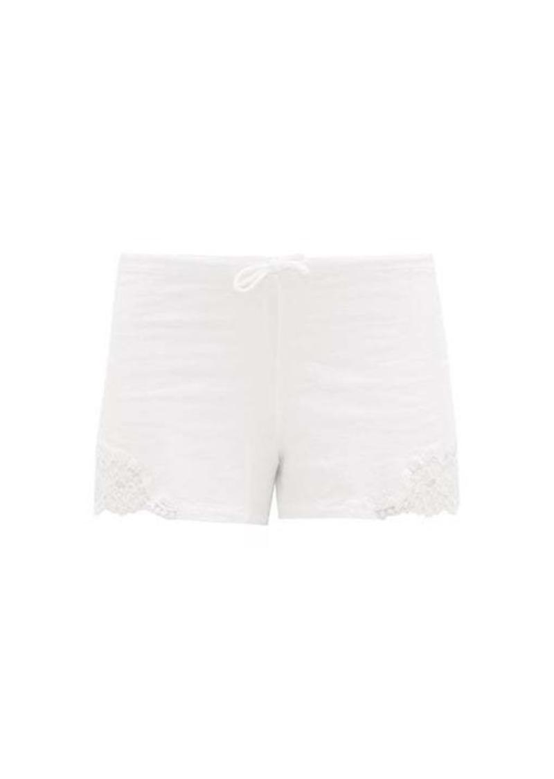 La Perla Lace-trimmed cotton-blend jersey pyjama shorts