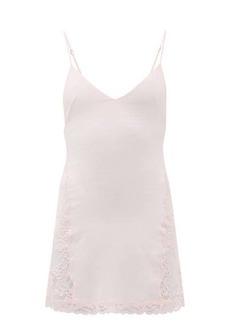 La Perla Lace-trimmed silk-blend slip dress