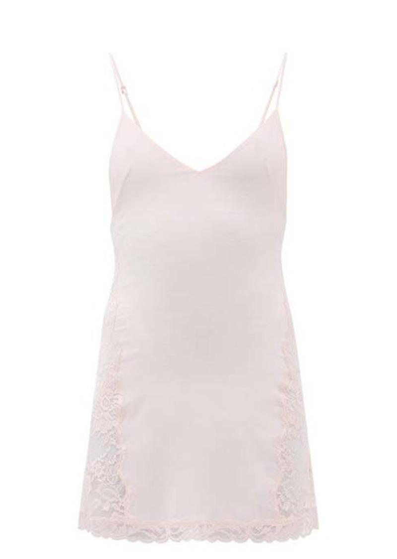 La Perla Leavers Poem lace-trimmed silk-blend slip dress