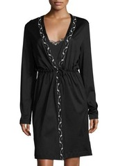 La Perla Liaison Embroidered Short Robe