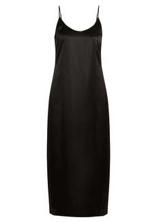 La Perla Lunga scoop-neck silk-satin slip