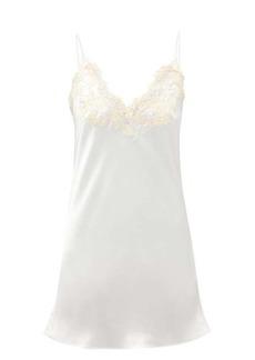 La Perla Maison embroidered silk-satin nightdress