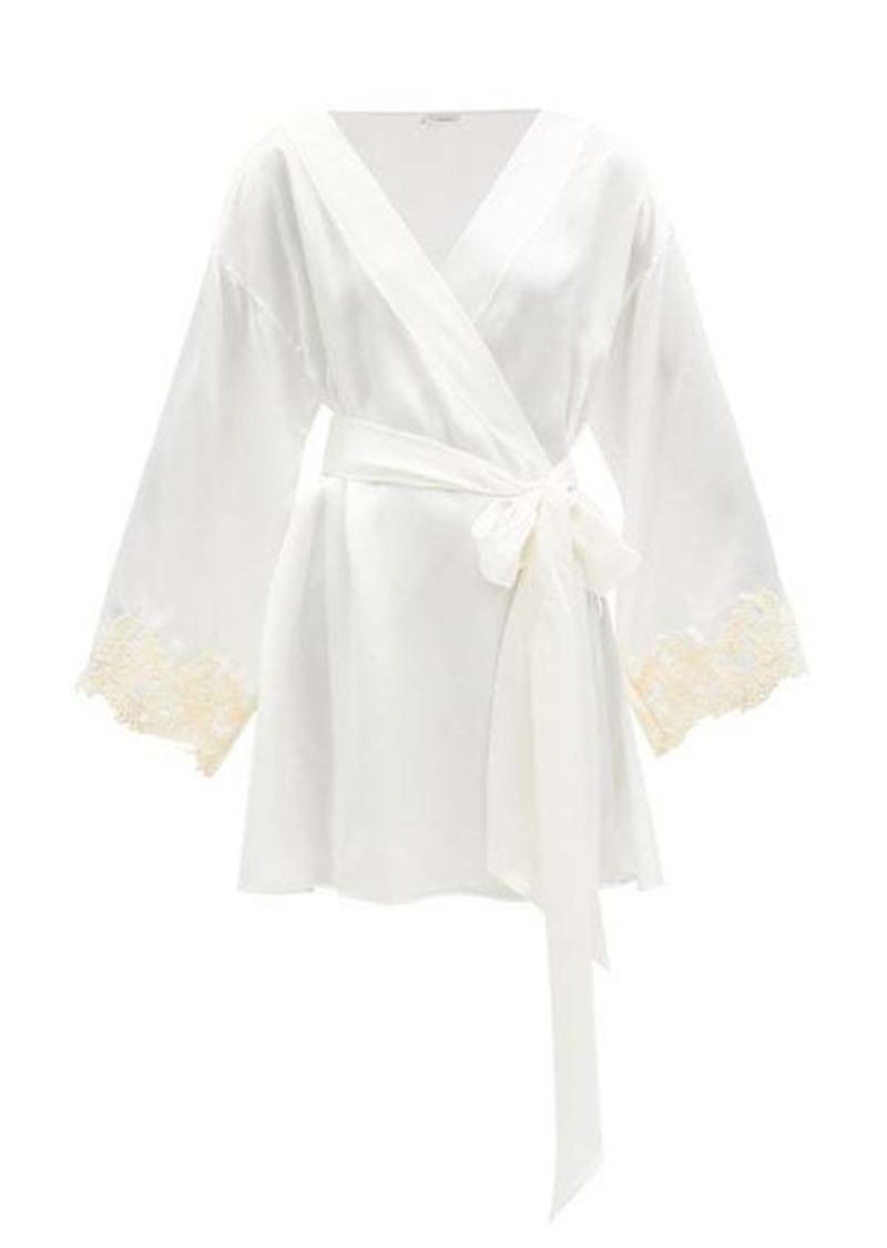 La Perla Maison embroidered silk-satin robe