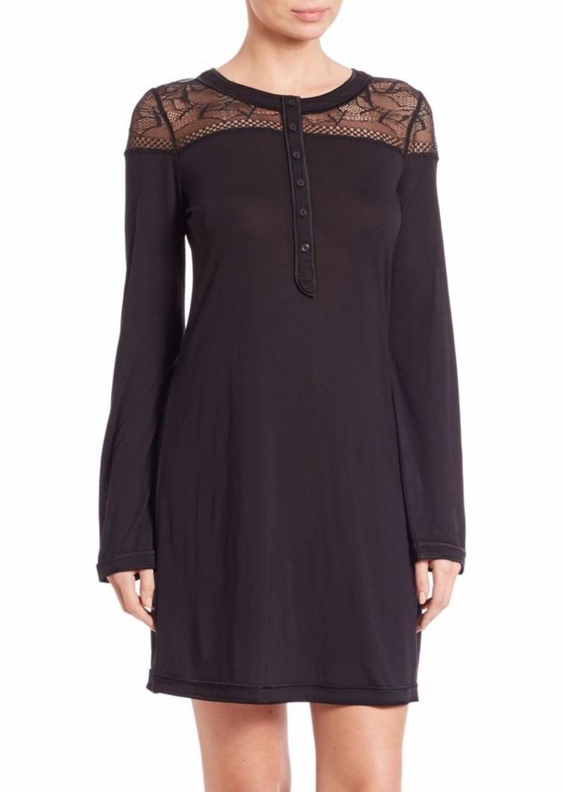 La Perla Myrta Long-Sleeve Nightgown