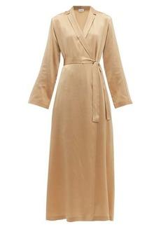 La Perla Notch-lapel silk-charmeuse robe