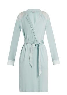 La Perla Romance lace-panel jersey robe