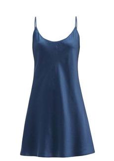La Perla Scoop-back silk-satin slip dress