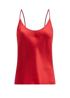 La Perla Scoop-neck silk-charmeuse cami top