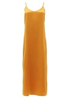 La Perla Scoop-neck silk-charmeuse midi nightdress
