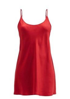 La Perla Scoop-neck silk-charmeuse mini nightdress