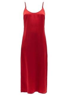 La Perla Scoop-neck silk-charmeuse nightdress