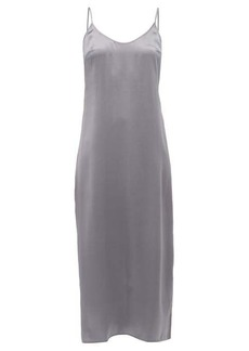 La Perla Scoop-neck silk-charmeuse slip dress