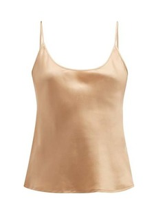 La Perla Scoop-neck silk-satin cami top