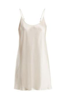 La Perla Semplice scoop-neck silk-satin slip