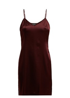 La Perla Silk-blend satin slip dress