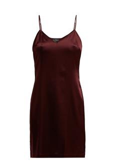 La Perla Silk-blend satin slip dress