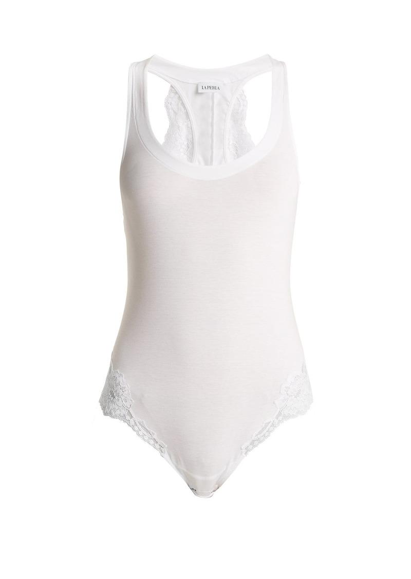 La Perla Souple lace-trimmed jersey bodysuit