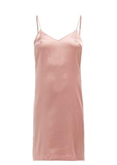 La Perla V-neck silk-satin slip dress