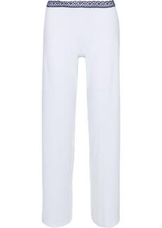 La Perla Woman Soft Touch Lace-trimmed Stretch-jersey Pajama Pants White