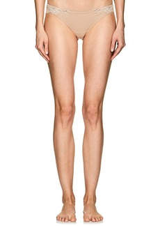 La Perla Women's Souple Cotton-Blend Jersey & Lace Thong