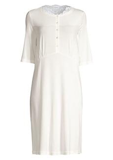 La Perla Lace-Trimmed Short Nightgown