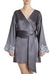 La Perla Maison Lace Trim Silk Blend Robe