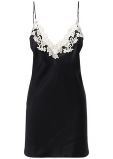 La Perla Maison Silk & Lace Mini Dress