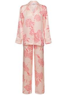 La Perla Printed Silk Satin Pajama Set
