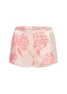 La Perla Printed Silk Satin Pajama Shorts