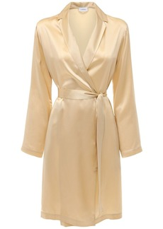 La Perla Short Silk Satin Robe