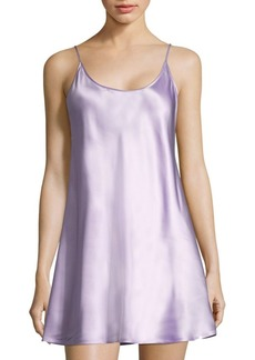 Short Sleeveless Silk Chemise