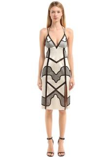 La Perla Silk Satin & Lace Slip Dress