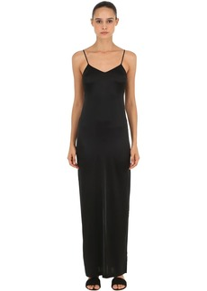 La Perla Stretch Silk Satin Long Dress