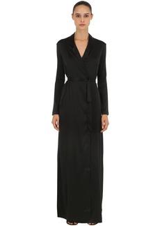 La Perla Stretch Silk Satin Long Robe